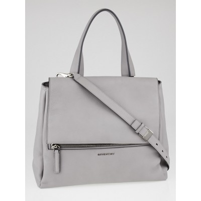 Givenchy Pearl Grey Leather Pandora Pure Medium Bag