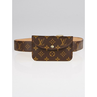 Louis Vuitton Monogram Canvas Pochette Belt 80/32