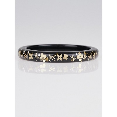 Louis Vuitton Black Resin Monogram Inclusion PM Bracelet