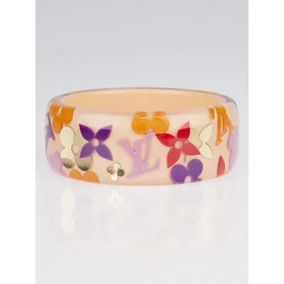 Louis Vuitton Pink Farandole Monogram Bangle Bracelet