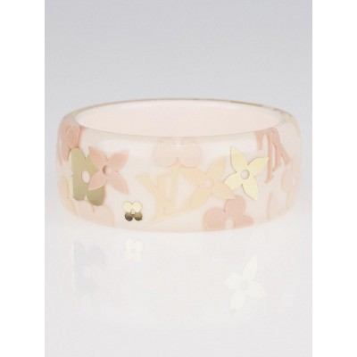 Louis Vuitton Light Pink Farandole Monogram Bangle Bracelet