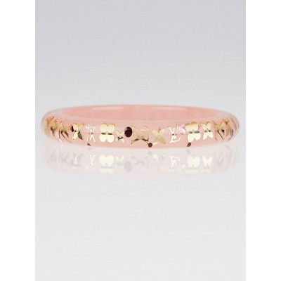 Louis Vuitton Pink Resin Monogram Inclusion PM Bracelet