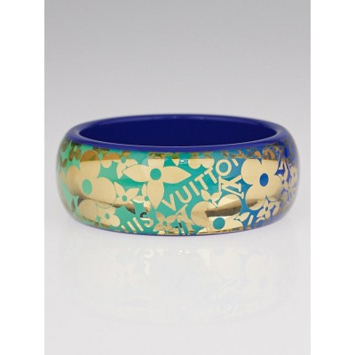 Louis Vuitton Blue Tropical Resin Monogram Cocktail GM Bracelet