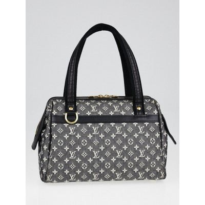 Louis Vuitton Black Monogram Mini Lin Canvas Josephine PM Bag