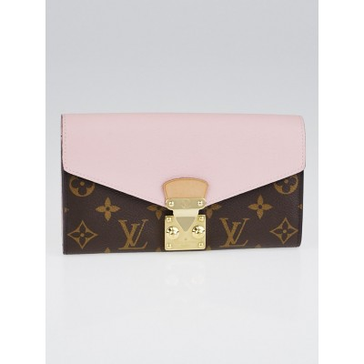 Louis Vuitton Rose Ballerine Monogram Canvas Pallas Wallet