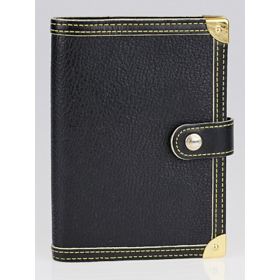 Louis Vuitton Black Suhali Leather Small Agenda/Notebook Cover