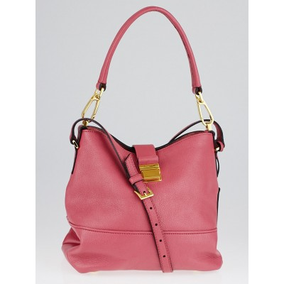 Miu Miu Bruyere Madras Goatskin Leather Hobo Bag RR1951