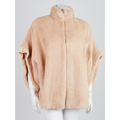 Yves Saint Laurent Blush Sheared Mink Jacket Size 6/38