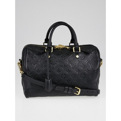 Louis Vuitton Black Monogram Empreinte Leather Speedy Bandouliere 30 Bag