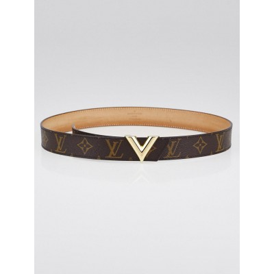 Louis Vuitton Monogram Canvas Essential V 30mm Belt Size 85/34