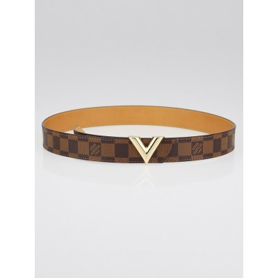 Louis Vuitton Damier Canvas Essential V 30mm Belt Size 85/34