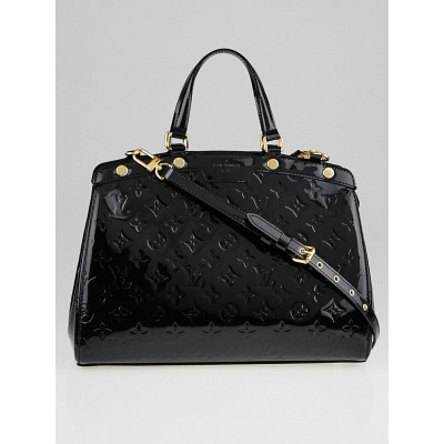 Louis Vuitton Black Monogram Vernis Brea MM Bag