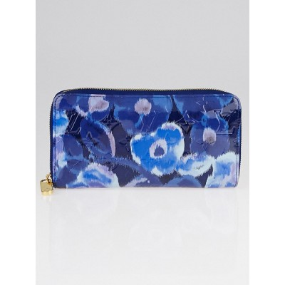 Louis Vuitton Grand Bleu Limited Edition Rose Velours Monogram Vernis Ikat Zippy Wallet