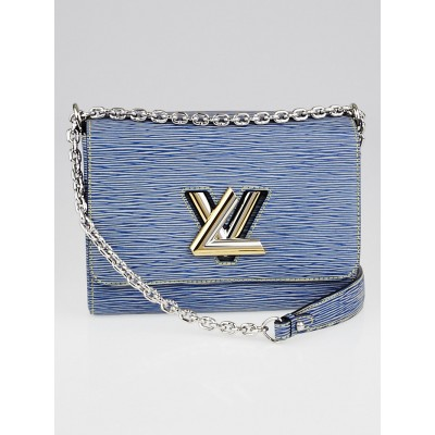 Louis Vuitton Denim Light Epi Leather Twist MM Bag