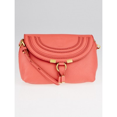 Chloe Paradise Pink Leather Mini Marcie Crossbody Bag