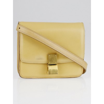 Celine Beige Calfskin Leather Small Box Bag