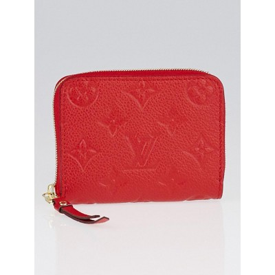 Louis Vuitton Cherry Monogram Empreinte Leather Zippy Coin Purse