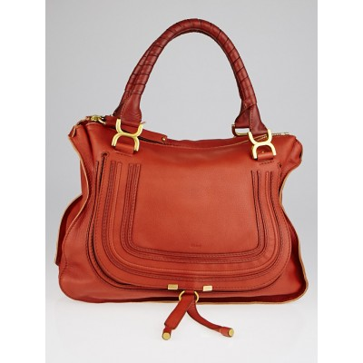 Chloe Ecureuil Leather Large Marcie Satchel Bag