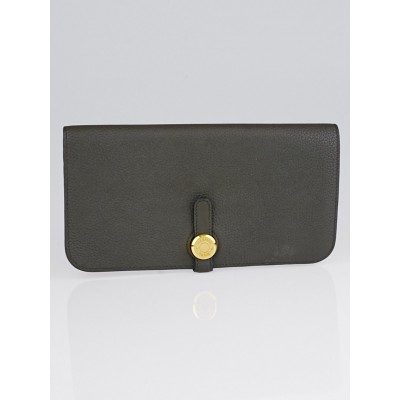 Hermes Vert de Gris Togo Leather Dogon Recto Verso Wallet