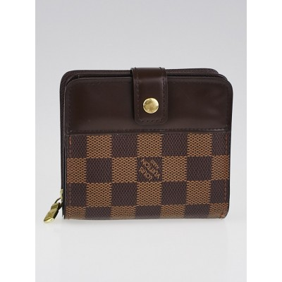 Louis Vuitton Damier Canvas Zippy Compact Wallet