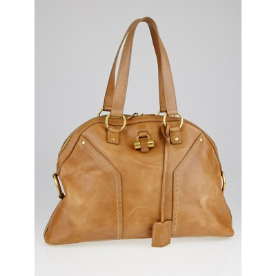 Yves Saint Laurent Tan Leather Large Muse Bag