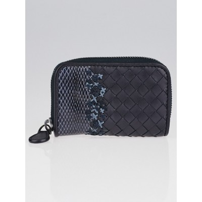 Bottega Veneta Tourmaline Intrecciato Woven Nappa Leather and Ayers Coin Purse