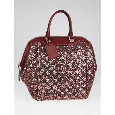 Louis Vuitton Limited Edition Burgundy Monogram Sunshine Express North-South Bag