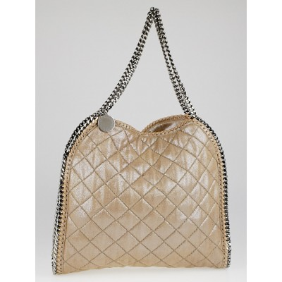 Stella McCartney Nude Pearlescent Faux-Leather Falabella Tote Bag
