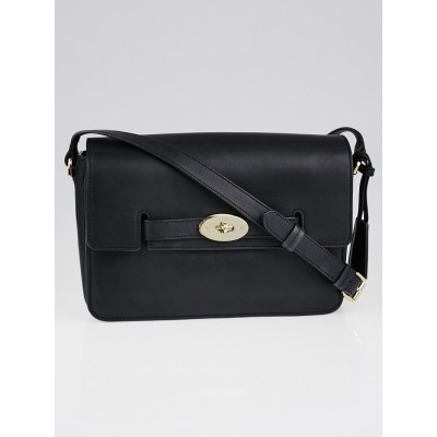 Mulberry Black Polished Calfskin Leather Bayswater Shoulder Bag
