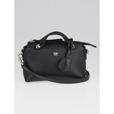 Fendi Black Calfskin Leather Mini By The Way Bag 8BL135