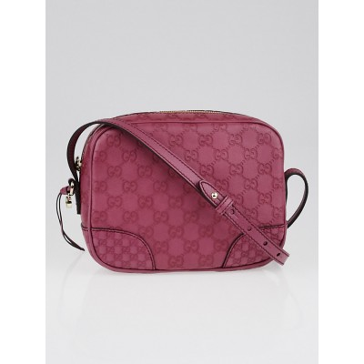 Gucci Peonia Guccissima Leather Bree Mini Messenger Bag