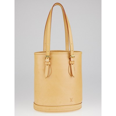 Louis Vuitton Limited Edition Natural Vachetta Leather Petit Bucket Bag