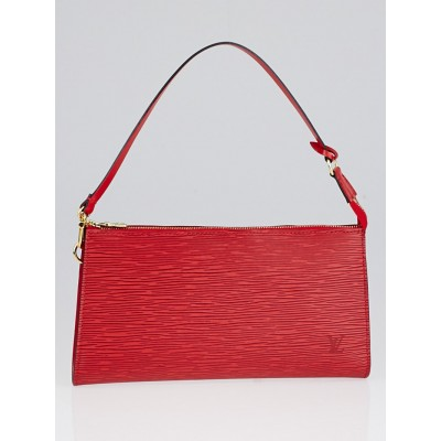 Louis Vuitton Rouge Epi Leather Pochette Accessories 24 Bag