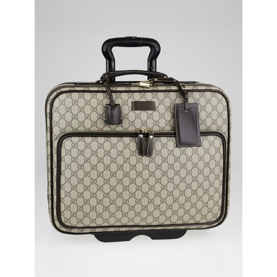 Gucci Beige/Ebony GG Coated Canvas Pilot Rolling Suitcase