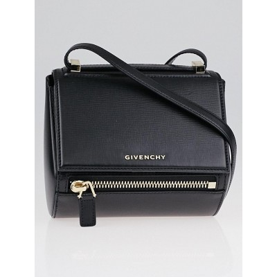 Givenchy Black Grained Leather Pandora Box Mini Crossbody Bag