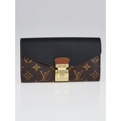 Louis Vuitton Black Monogram Canvas Pallas Wallet