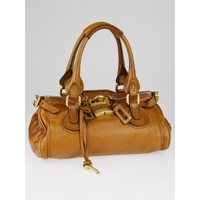 Chloe Brown Leather Medium Paddington Satchel Bag