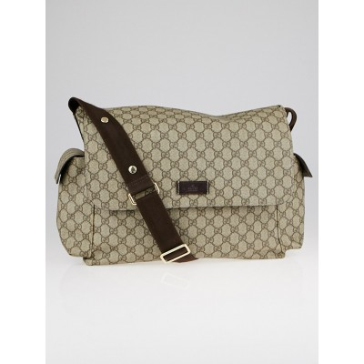 Gucci Beige/Ebony GG Coated Canvas Messenger Diaper Bag