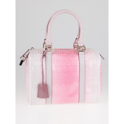 Fendi Pink Gradient Sequin Bauletto Boston Bag 8BL068