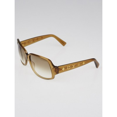 Louis Vuitton Brown Speckling Acetate Frame Obsession Carre Sunglasses-Z0025W