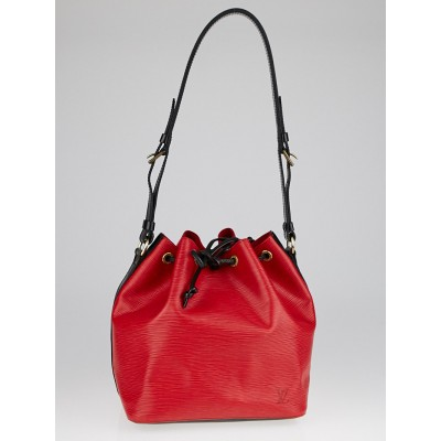 Louis Vuitton Red/Black Epi Leather Petite Noe Bag