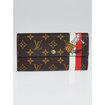 Louis Vuitton Limited Edition Monogram Canvas Red Groom Sarah Wallet