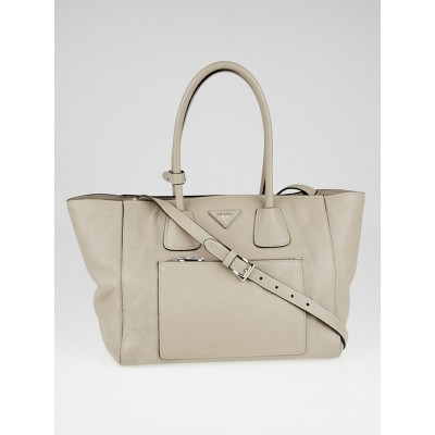 Prada Pomice Vitello Phenix Leather Shopping Tote Bag BN2795