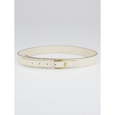 Louis Vuitton 30mm Neige Monogram Empreinte Leather Gracieuse Belt Size 90/36