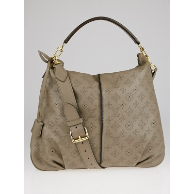 Louis Vuitton Taupe Monogram Mahina Leather Selene MM Bag