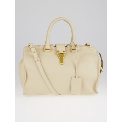 Yves Saint Laurent Beige Leather Small Cabas ChYc Bag