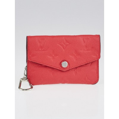 Louis Vuitton Poppy Monogram Empreinte Leather Pochette Cles and Key Holder