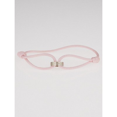Cartier Pink Silk Rope LOVE 18k White Gold Charity Bracelet
