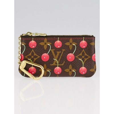 Louis Vuitton Limited Edition Monogram Cerises Canvas Pochette Cles Key and Change Holder