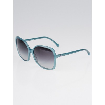 Chanel Teal Oversized Frame CC Sunglasses-5204